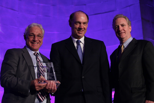 H. Thomas Watkins, Chairman, Biotechnology Industry Organization (BIO) (center) was presented with the National Research Innovation and Leadership award during the Lupus Foundation of America's National Butterfly Gala.