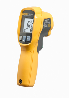 New Fluke 62 Max and 62 Max+ infrared thermometers offer market-leading dust, water and drop protection.