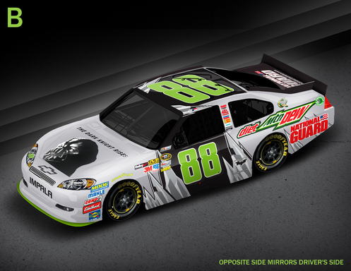 No. 88 Diet Mountain Dew Car ''Bane'' Paint Scheme
