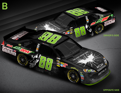 No. 88 Diet Mountain Dew Car ''Batman and Bane'' Paint Scheme