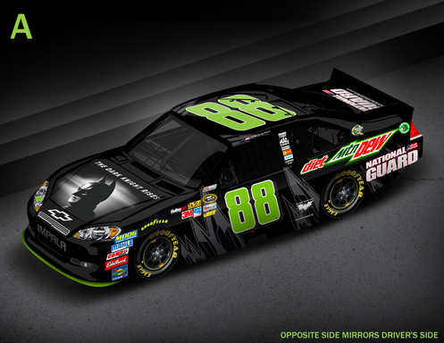 No. 88 Diet Mountain Dew Car ''Batman'' Paint Scheme