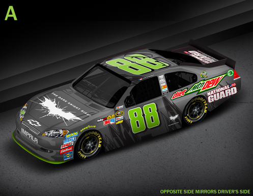 No. 88 Diet Mountain Dew Car ''Bat Symbol'' Paint Scheme