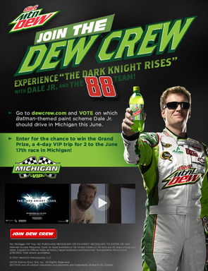 Dale Jr. / Dew Crew Screen Shot