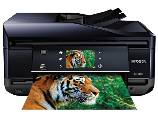The Epson® Expression® Premium XP-800 Small-in-One™, equipped with EPSON Connect™, delivers superior performance, brilliant print quality, and creative tools for all your holiday projects.