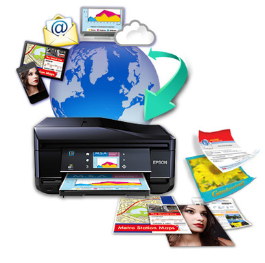 EPSON Connect™ free mobile printing solutions make it easy to print documents, emails, photos, and web pages from anywhere in the world with popular mobile devices and EPSON Connect enabled printers.