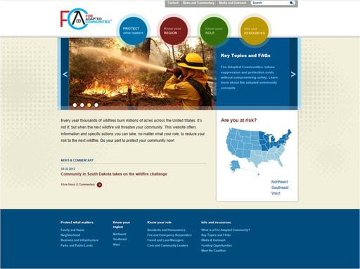 Fire Adapted.org Homepage