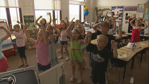 "Students from Red Hawk Elementary in Erie, Colo. participate in the school's ""Red Hawk Movement"" Program, a National Winner in ASAP Competition"