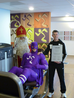 Sinterklaas, Captain Runningman, and Club Owner John Kolthoff