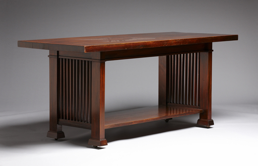 Library Table, Edward C. Waller House, remodel, 1899, River Forest, Ill.