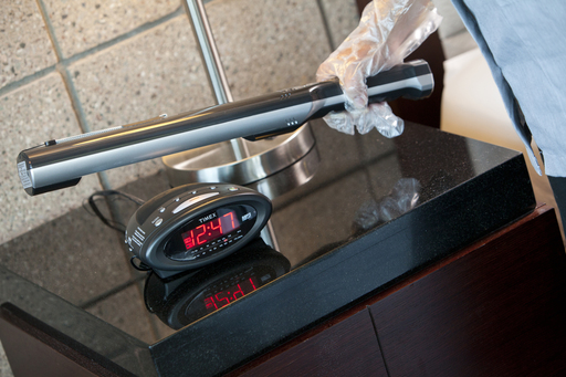 Best Western Housekeeping uses UV wands to sterilize ''high touch point.'' Photo credit: Best Western Plus Sundial, Scottsdale Arizona.