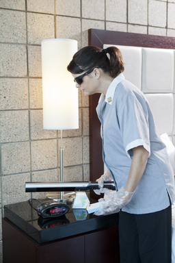 Best Western Housekeeping using UV Sterilization wand. Photo credit: Best Western Plus Sundial, Scottsdale Arizona.