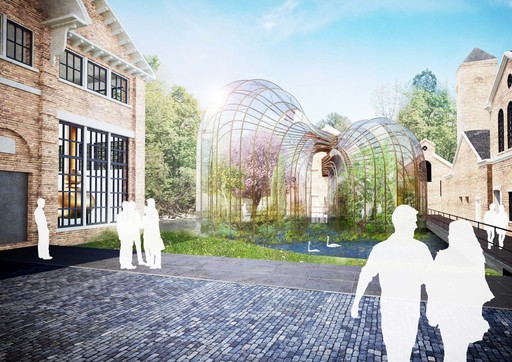 Bombay Sapphire - Laverstoke Mill - Glass House Exterior Artist Impression - Heatherwicks Studio