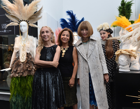 Franca Sozzani, Editor-in-Chief, Vogue Italia;  Desirée Bollier, CEO, Value Retail and Anna Wintour, Editor-in-Chief, American Vogue