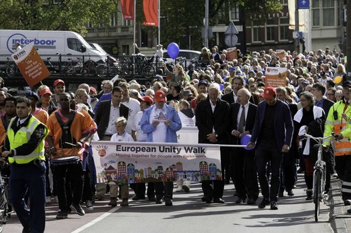 The first ever European Unity Walk on 28 September 2012 in Amsterdam