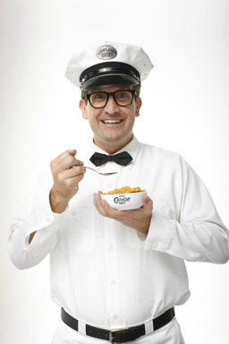 "A simple milkman named Clarence, testifies that Crunchy Nut™ cereal has forever changed his life. ""Now with Kellogg's® Crunchy Nut™, I live a life devoid of dull cereal. Breakfast is actually fun again!"""