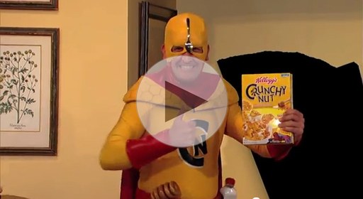 Guillermo in a Kelloggs Commercial