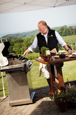 "TRAVERSE CITY, MICHIGAN, June 28, 2012 – Mario Batali brought his love of cooking to Pure Michigan for a ""Made in Michigan"" Day at Chateau Chantal on Old Mission Peninsula."