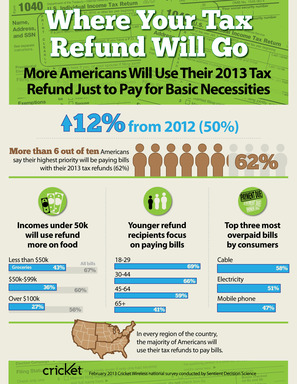 Most Americans will use tax refund for basic necessities