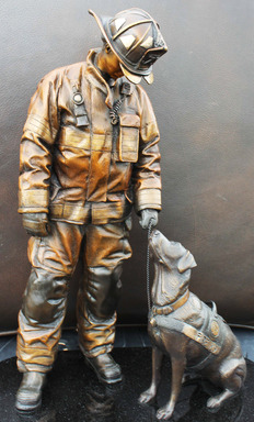 National Fire Dog Monument, sculpted by firefighter and artist Austin Weishel.
