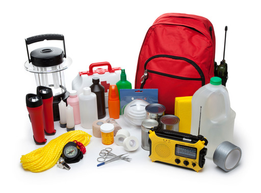 Recommended items for an emergency preparedness kit