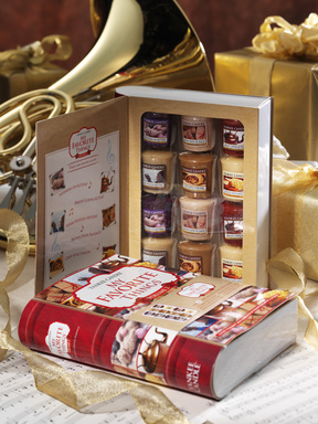 Relive fond childhood memories with The 'My Favorite Things™' 12 Samplers ® Votives Gift book