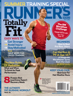 Ashton Eaton, U.S. Decathlete, on the cover of the July 2012 issue of Runner's World.
