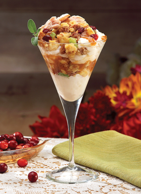 Bob Evans Thankstini offers the best traditional Thanksgiving  flavors layered together in a martini glass.