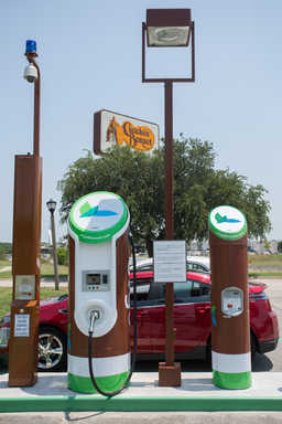 eVgoSM Freedom Station located at Cracker Barrel Old Country Store in Mesquite, Texas