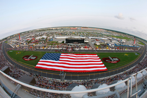 Pre-race festivities prior to the start of the 2011 Coke Zero 400 Powered By Coca-Cola at Daytona International Speedway