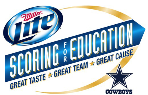 Miller Lite Scoring for Education, Great Taste, Great Team, Great Cause