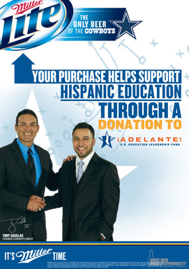 Your Purchase Helps Support Hispanic Education Through a Donation to Adelante