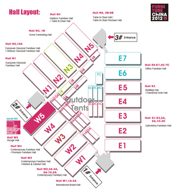 Hall Layout of Venue A: Shanghai New International Expo Centre