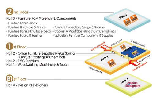 Hall Layout of Venue B: Shanghai World Expo Exhibition & Convention Center