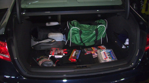 The proper emergency supplies in a vehicle
