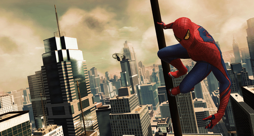 The Amazing Spider-Man Overlooks Manhattan