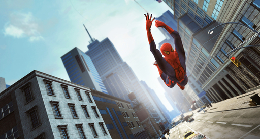 The Amazing Spider-Man Swings Through Manhattan