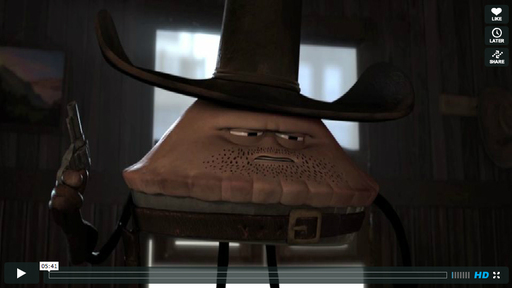 """The Ballad of Poisonberry Pete"" by Uri Lotan, Amateur Animation Category Winner, G-Technology Driven Creativity Competition. This witty pie western was expertly executed and directed."