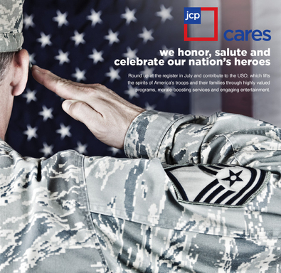jcpenney supports the USO this July.
