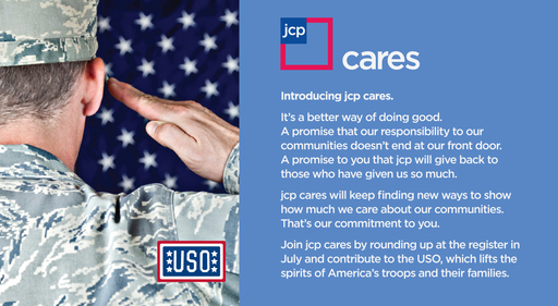 jcpenney has launched a new charitable giving program, jcp cares.