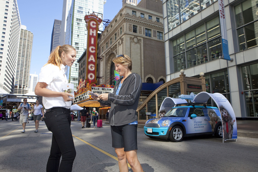 Sanofi Pasteur launched its Fluzone® Intradermal Coop de Quill VacciNation Tour in Chicago on Saturday, September 8, 2012 at Walgreens during the city's Open Streets celebration.