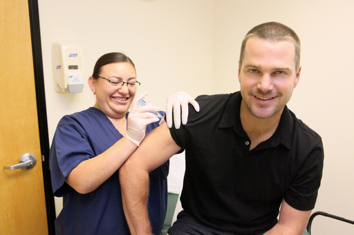After speaking with his doctor about the seriousness of the flu, Actor Chris O'Donnell received his influenza vaccination this year with Fluzone® Intradermal vaccine.