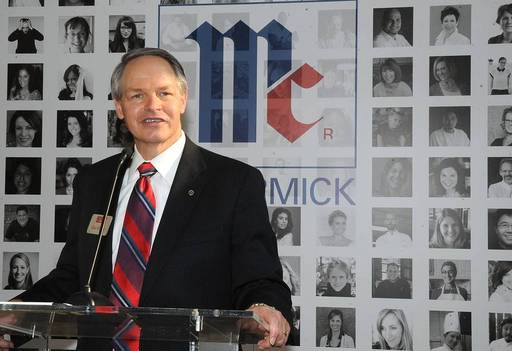 McCormick CEO Alan Wilson introduces the company's Flavor of Together program, a yearlong program to unite people around the world over a shared passion for flavor, during an event to celebrate McCormick's 125th anniversary, Dec. 3 in New York.