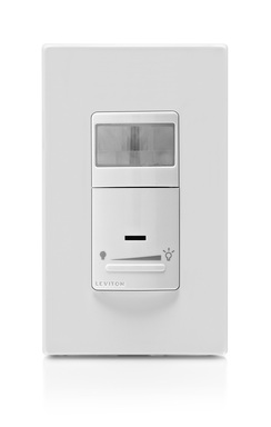 Leviton Sensors help manage energy consumption and costs by ensuring that lights/loads will turn OFF automatically when a space is unoccupied and motion is no longer detected within the covered range.