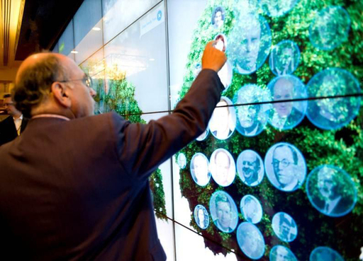 Charlie Firestone of The Aspen Institute explores the Media Wall with the ON Talent group