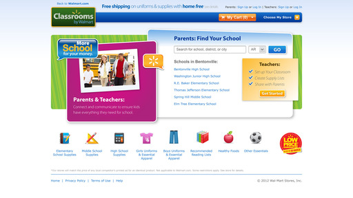 Classrooms by Walmart, the latest innovation to come from @WalmartLabs, enables moms to find their students' classroom supply lists and purchase the items on Walmart.com or at their local Walmart store.