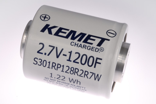 KEMET S301 Series Supercapacitor, Screw Termination, 2.7 V, 65C