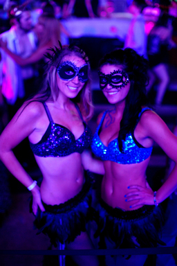 Masked ladies at Midsummer Lingerie Masquerade at Palms Casino Resort in Las Vegas