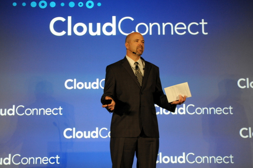 Cloud Connect's General Manager Steve Wylie on the Keynote Stage