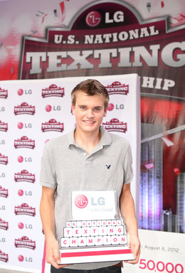 17-year-old Austin Wierschke from Rhinelander, WI is named the LG U.S. National Texting Championship winner for the second year in a row.