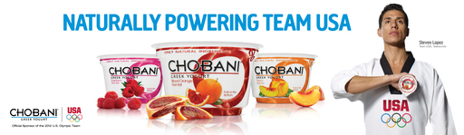 Team Chobani member, Steven Lopez –2012 US Olympian and three-time Olympic medalist in taekwondo